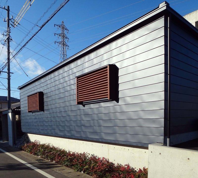 岐阜県各務原市 HO-GYOの家 外観 ガルバリウム鋼板