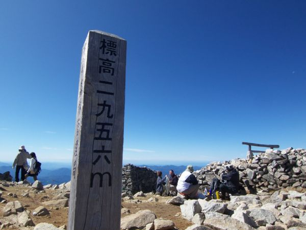 木曽駒ヶ岳。