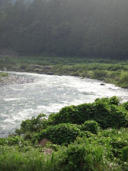 台風後の川下り