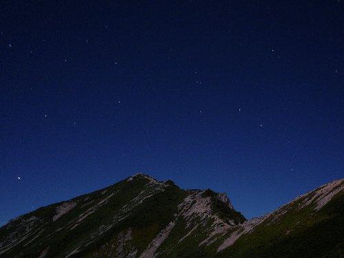 山の夜。唐松岳