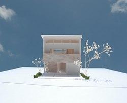 オープンハウスの案内。「御井の家」