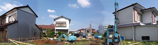 柱状改良。「各務原の家」