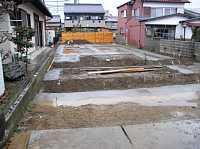 捨てコンクリートの打設
