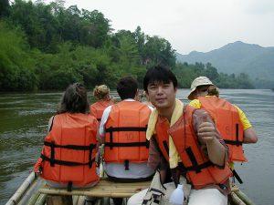 タイ カンチャナブリートレッキングツアー イカダ下り