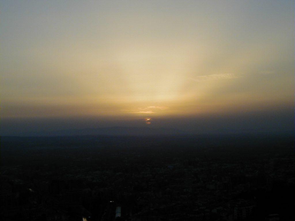 グラナダ 夕日
