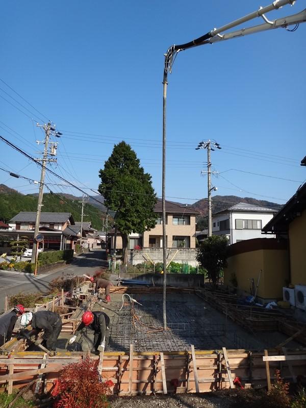 畳リビングのある家 基礎コンクリートの打設
