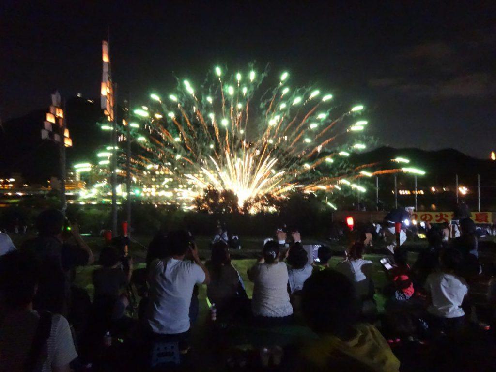 手力の火祭 長良川
