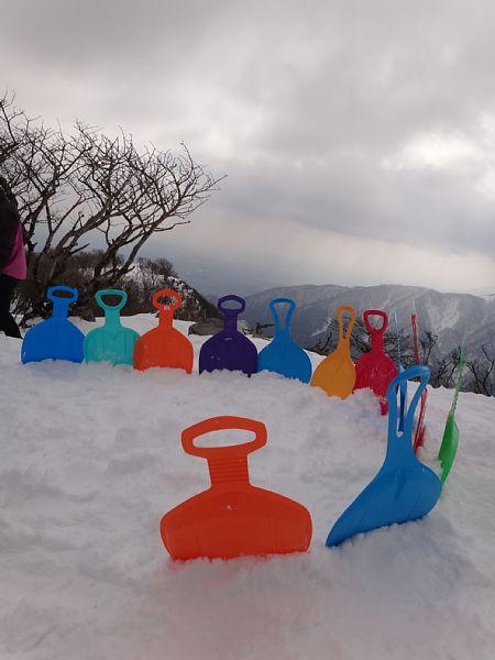 三重県 藤原岳 ヒップそり
