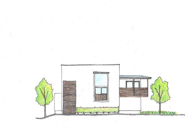 岐阜のFrameWork設計事務所の物件「小屋名の家」 スケッチ