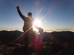 北アルプス 大キレット (2) 南岳 日の出