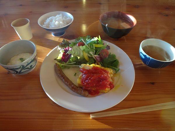 02 北アルプス表銀座縦走 大天荘の朝食
