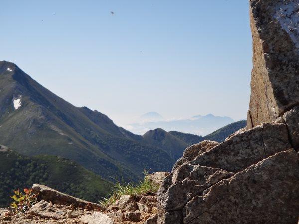 07 北アルプス表銀座縦走 富士山の姿も見える 大快晴