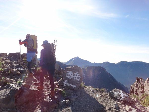 07槍ヶ岳-上高地 出発 西岳方面へ