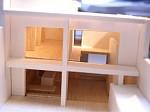 岐阜 七郷の家 模型 光の差し方
