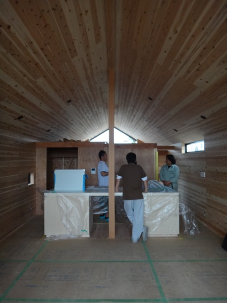 岐阜 FrameWork設計事務所の現場 神戸町の家 アイランドキッチン