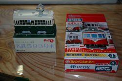 岐阜の配線になった名鉄揖斐線のチンチン電車の模型です。名鉄593号車 Bトレインショーティー 名古屋鉄道 510形