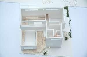 岐阜のFrameWork設計事務所のプレゼン 「大野町の家」の模型。
