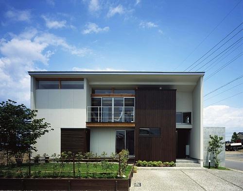 岐阜のFrameWork設計事務所の物件「西中島の家」 混構造の外観 岐阜市都市景観賞 奨励賞を受賞