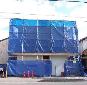 岐阜のFrameWork設計事務所の物件「上土居の家」 シートで隠れてます。