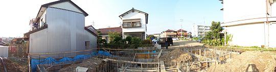岐阜のFrameWork設計事務所の現場「各務原の家」基礎の打設が終わりました