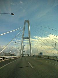 伊勢湾岸自動車道を通って、大府へ 吊橋は迫力あって走るのが楽しい