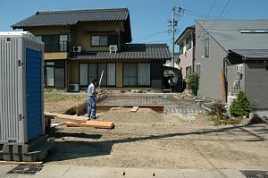 岐阜のFrameWork設計事務所の現場「三橋の家」 配筋検査