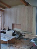 岐阜のFrameWork設計事務所の物件「大野町の家」 リビングは一部板張りです