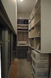 岐阜のFrameWork設計事務所の物件「七郷の家」の本棚完成