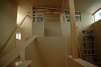 岐阜のFrameWork設計事務所の現場「大野町の家」 階段と書斎周り