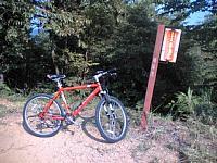 マウンテンバイクでサイクリング 文殊の森公園の林道を登りました 終点