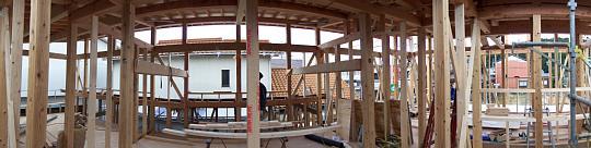 岐阜のFrameWork設計事務所の現場「上土居の家」 2階の様子