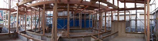 岐阜のFrameWork設計事務所の現場「上土居の家」上棟の翌日の様子です