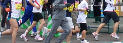 岐阜の各務原市で開催されたかがみがはらシティマラソンに参加 ランナーたち