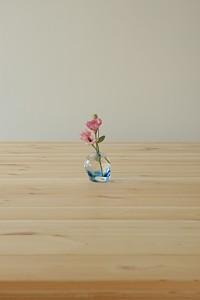 岐阜のFrameWork設計事務所の物件「七郷の家」にもらった花と器を飾りました