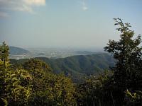 マウンテンバイクでサイクリング 文殊の森公園の林道を登りました 終点からの眺め