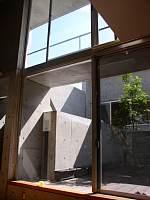 岐阜 FrameWork設計事務所 七郷の家 明るい中庭を眺めます。