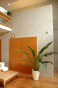 岐阜 FrameWork設計事務所 七郷の家 テレビの横の扉は締まります